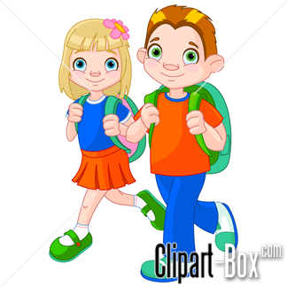 Going To School Clipart.