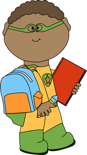 Boy Going To School Clipart.