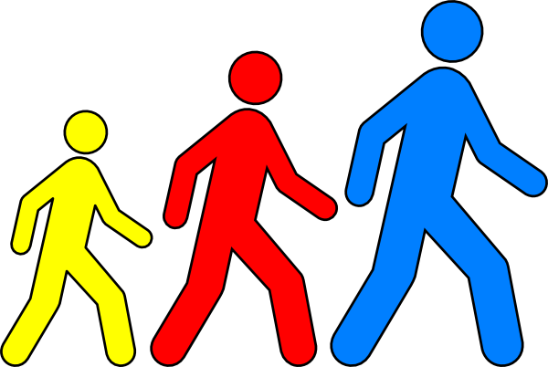going for a walk Baby Clip Art Free.