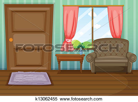 Clipart of An inside view of the house k13062455.