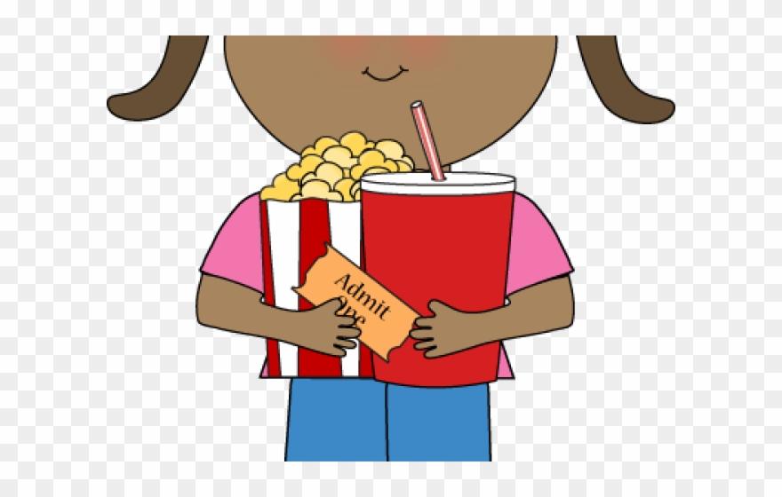 Popcorn Clipart Girl.