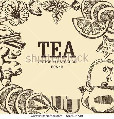 Mint Tea Stock Images, Royalty.