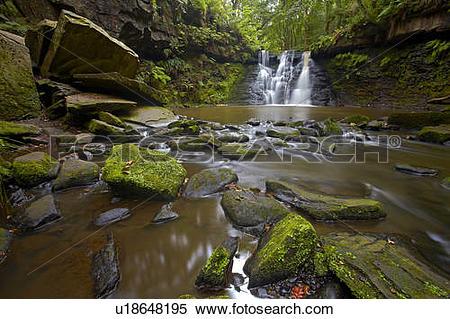 Stock Image of England, West Yorkshire, Harden. Harden Beck.