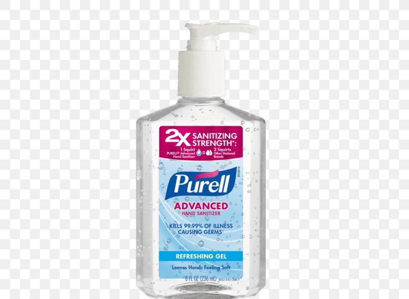 Hand Sanitizer Purell Gojo Industries Moisturizer Soap, PNG.