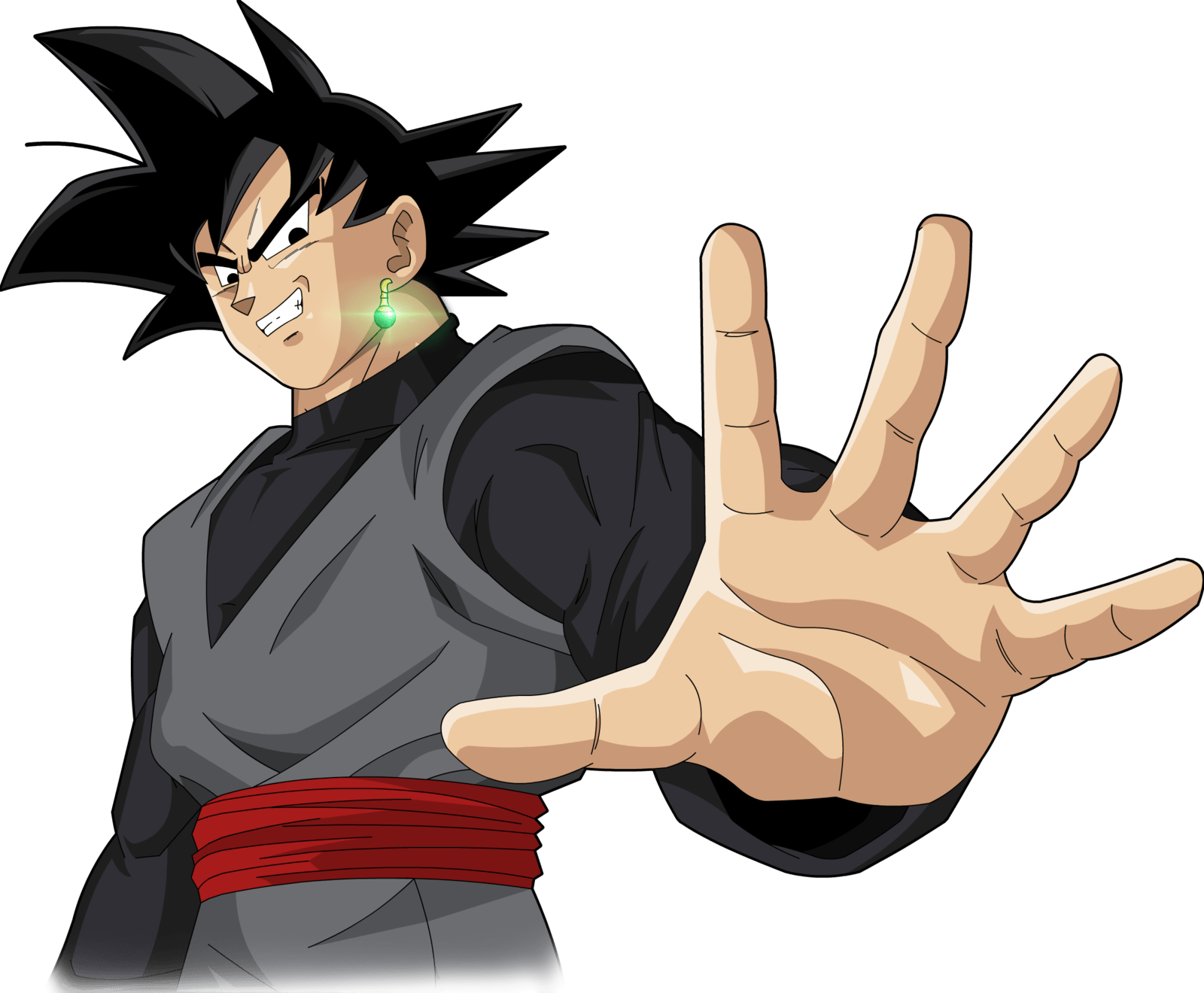 Black Goku Hand transparent PNG.