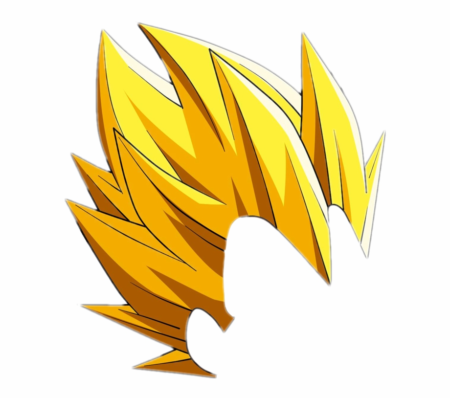 Vegeta Hair Png.