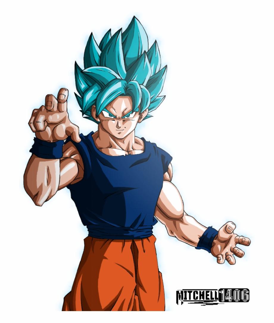 Goku Super Saiyan Blue Png.