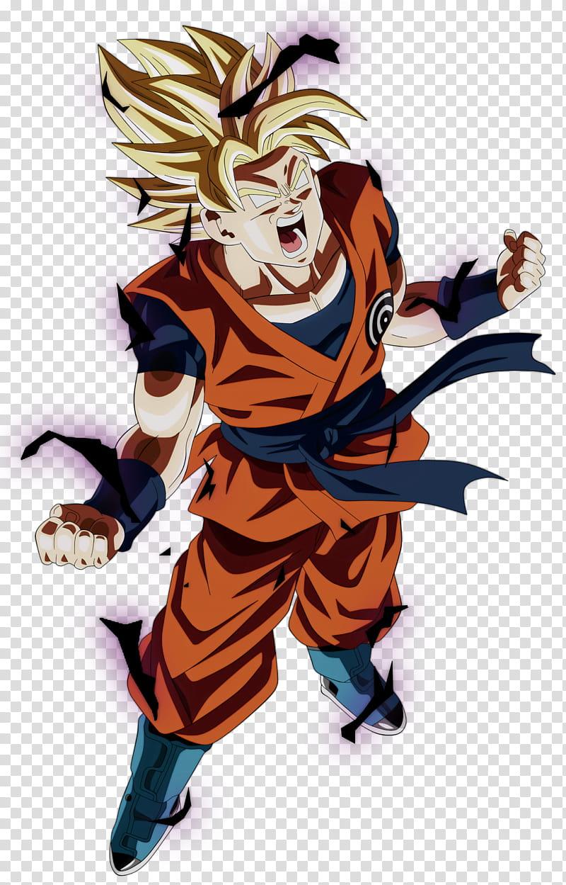 Goku Ssj Rage transparent background PNG clipart.