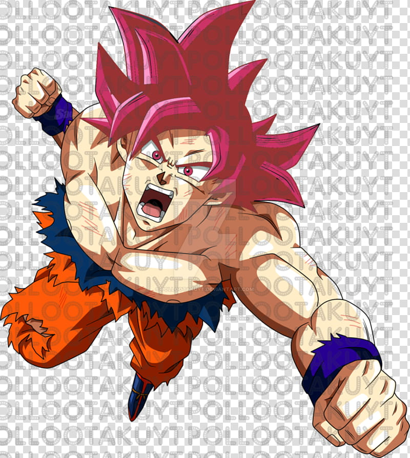 Goku Super Saiyan God/Goku Super Saiyajin Dios transparent.