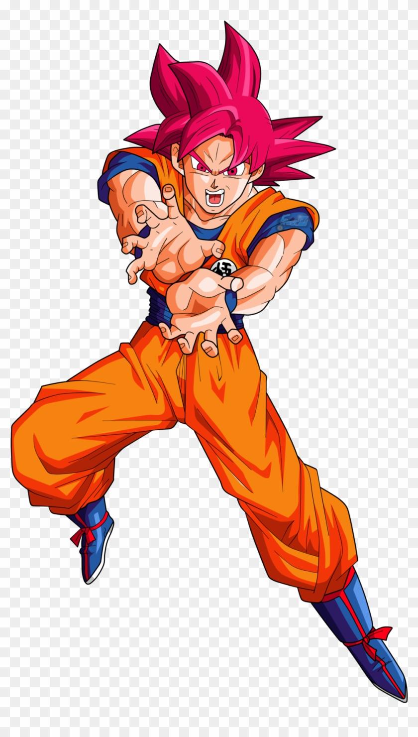 Goku Super Saiyan God Png.