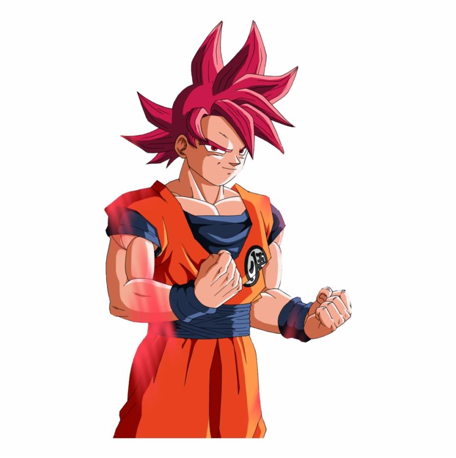 Goku Y Su Transformación En Super Saiyajin Dios.