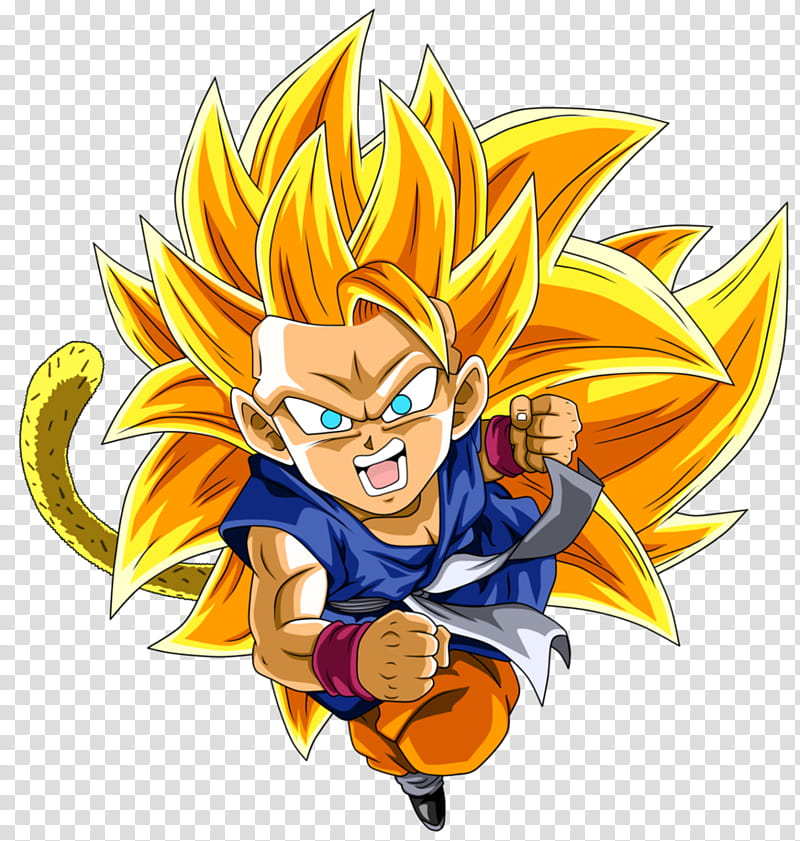 Kid Goku GT SSJ transparent background PNG clipart.