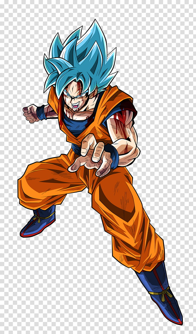 Super Saiyan Blue Son Goku Alt. transparent background PNG.