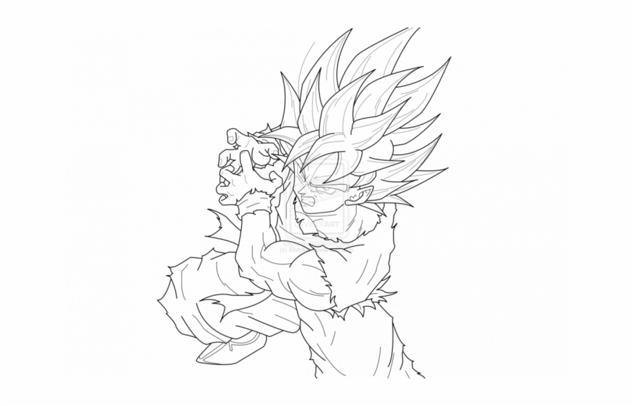 Dragon Ball Z Coloring Pages Goku Super Saiyan.