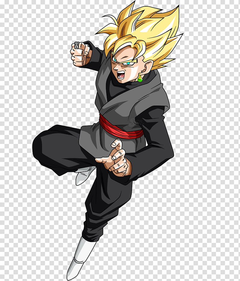 Black SSJ Manga, Super Saiyan Goku transparent background.