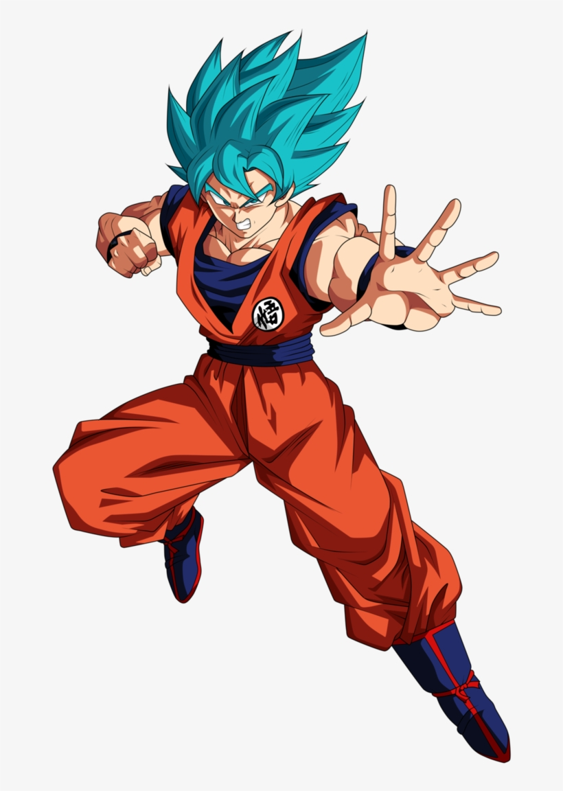 Goku Super Saiyan Blue Artwork.