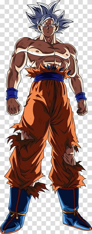 Goku Ultra Instinct transparent background PNG clipart.