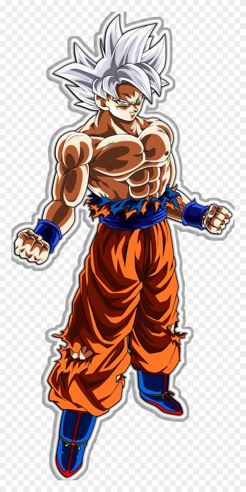 Dragonball Super Mastered Ultra Instinct Goku Decal.