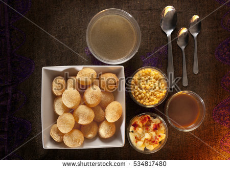 Golgappa Stock Photos, Royalty.