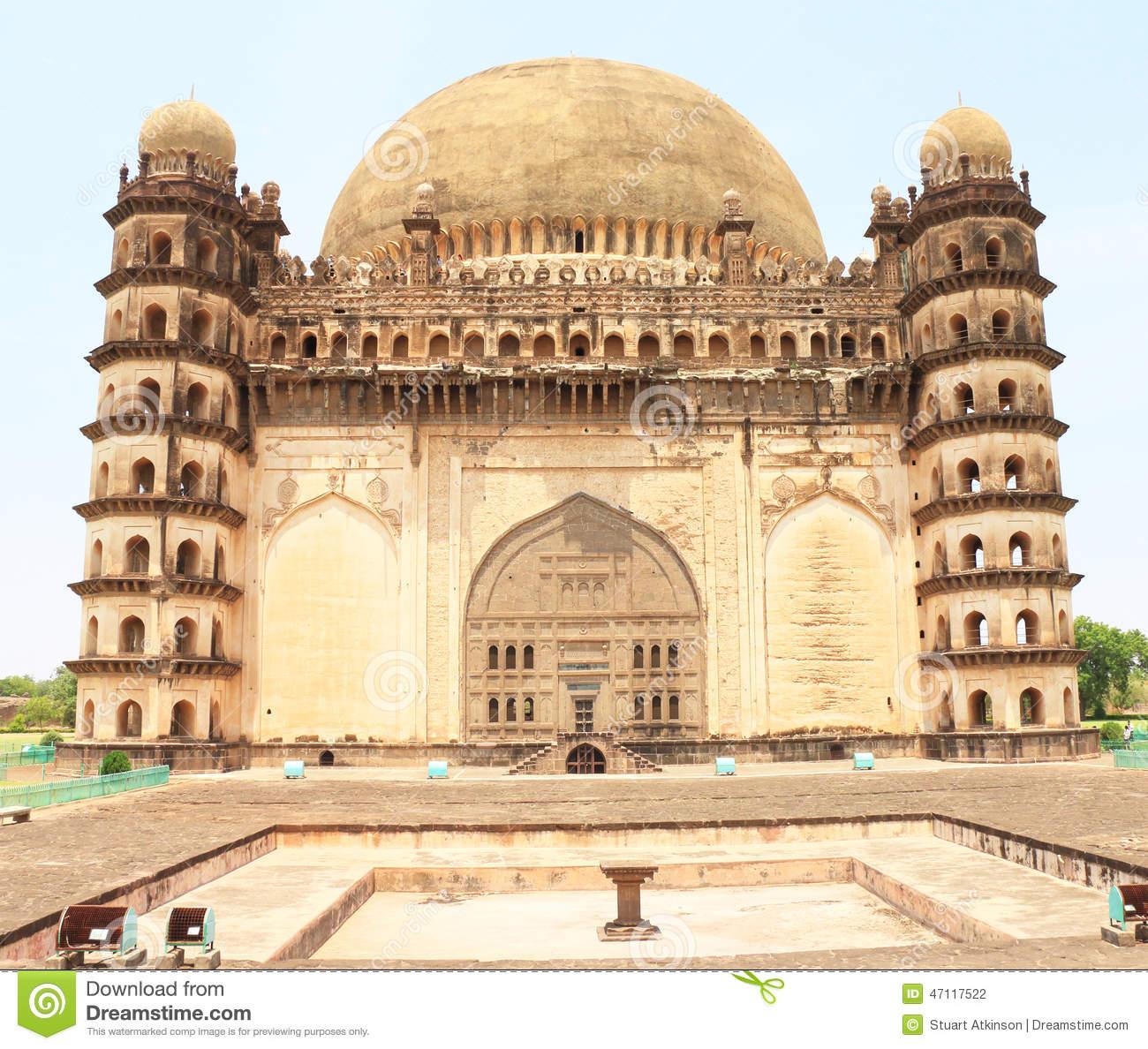Gol Gumbaz Palace And Mausoleum Bijapur Karnataka India Editorial.