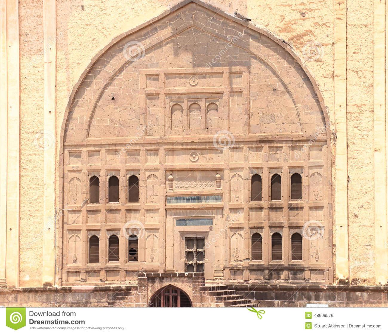 Gol Gumbaz Palace Entrance And Mausoleum Bijapur Karnataka Indi.