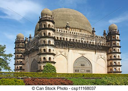 Stock Photos of Golgumbaz, a Mughal mausoleum in Bijapur.