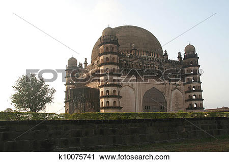 Stock Photography of Magnificent Gol Gumbaz k10075741.
