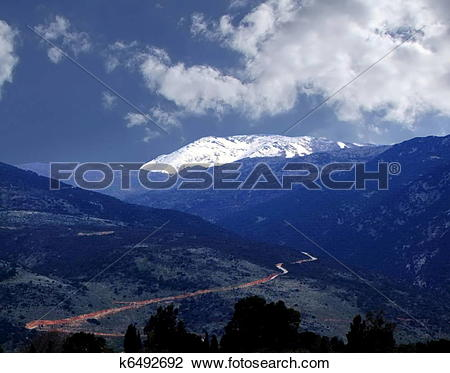 Stock Photo of Golan Heights and Mount Hermon k6492692.