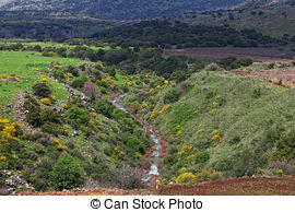 Stock Images of Golan Heights.