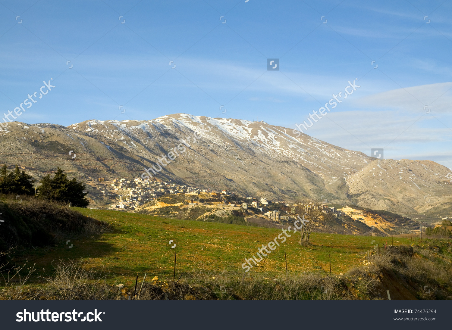 Mount Hermon, Golan Heights And Galilee Stock Photo 74476294.