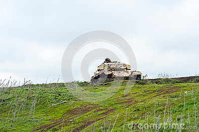 Abandoned Syrian Gun On Golan Heights Royalty Free Stock Photo.
