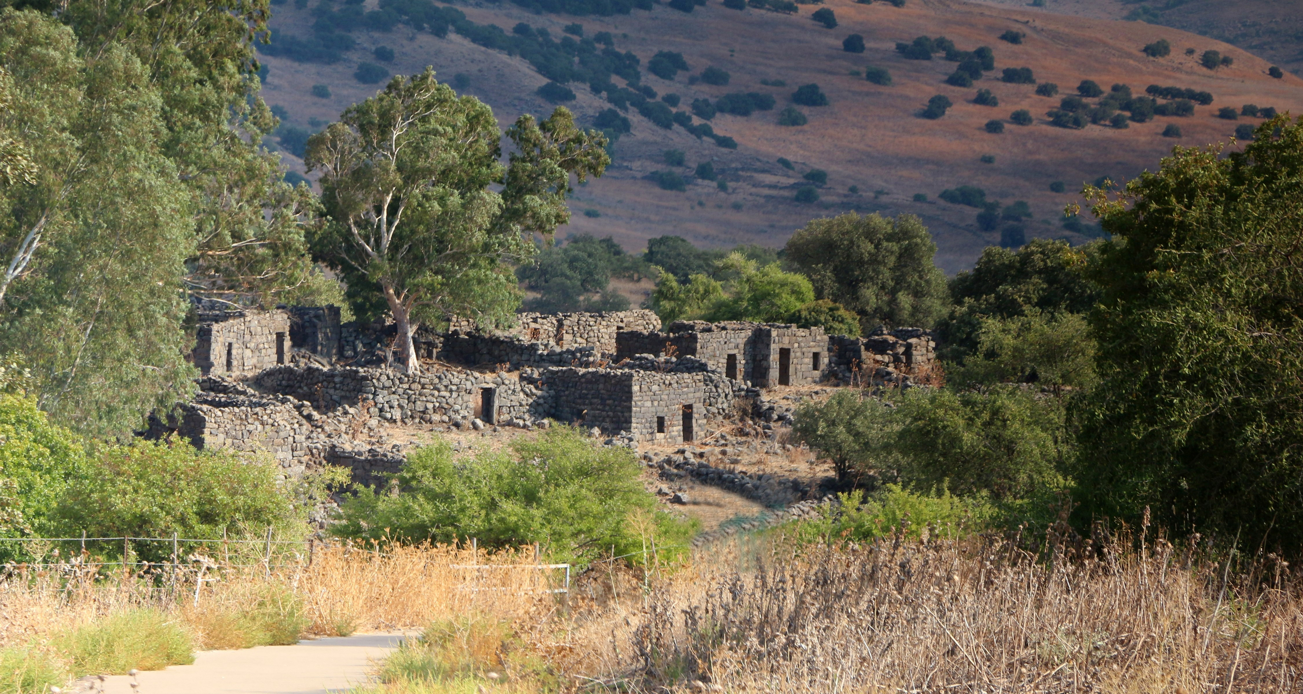 Ancient Ruins at Golan Heights, Israel.