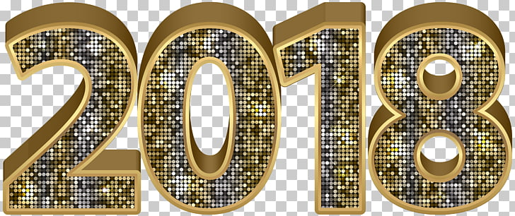 2018 Gold Deco , gold 2018 PNG clipart.