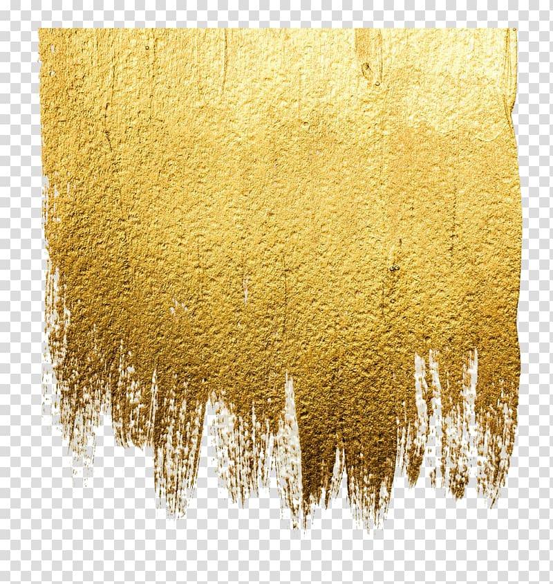 Acrylic paint Abstract art Illustration, Gold wall paint.