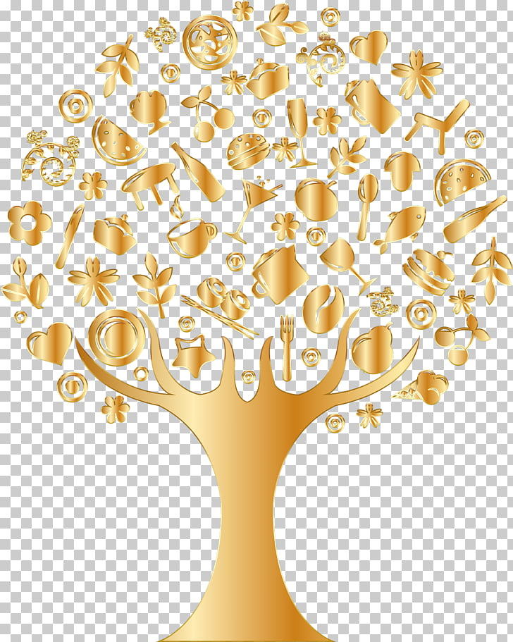 Tree Gold , abstract background PNG clipart.
