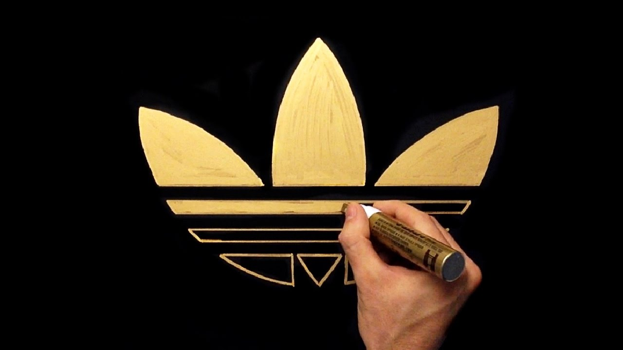 How To Draw Adidas Gold Logo.