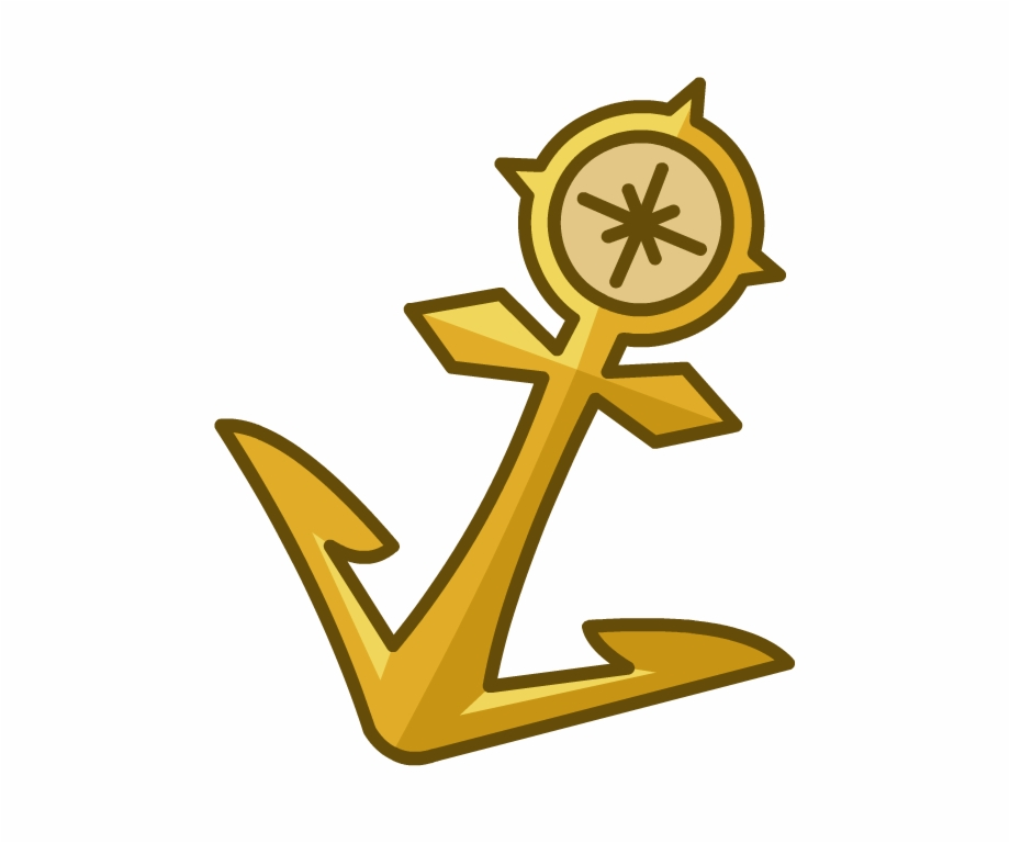 Gold Anchor Png.