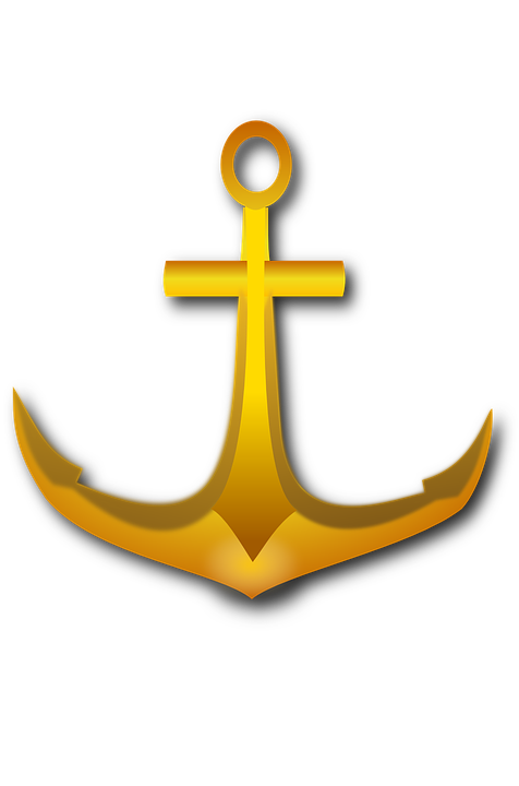 Anchor Sailing Sea.
