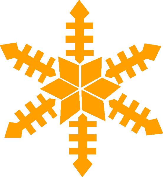 Gold Snowflake Clip Art at Clker.com.