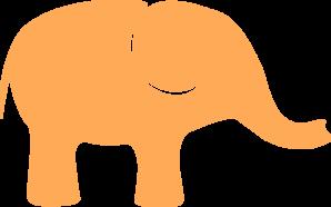 Gold elephant clipart.