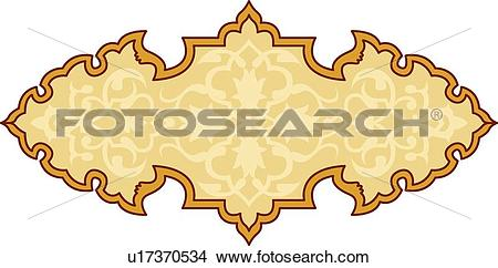 Clipart of Gold and orange header with copy space u17370534.