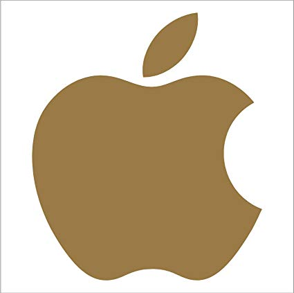 Graphix Apple Mac Logo Decals (2.5\