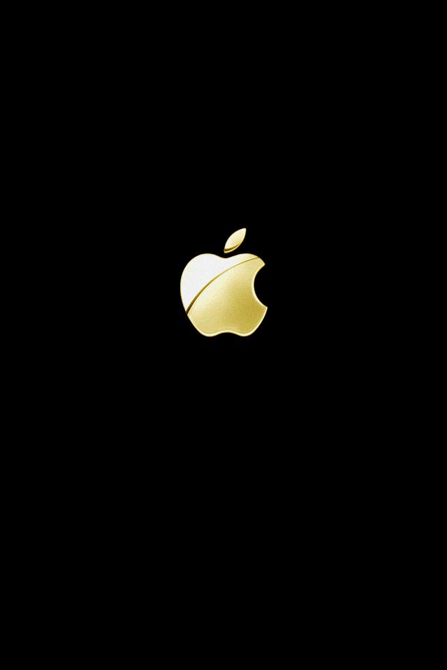 gold apple logo.