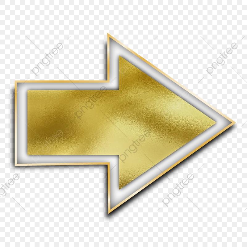 Arrow Png Golden Texture Gold Border, Arrow Png, Arrow Vector, Gold.
