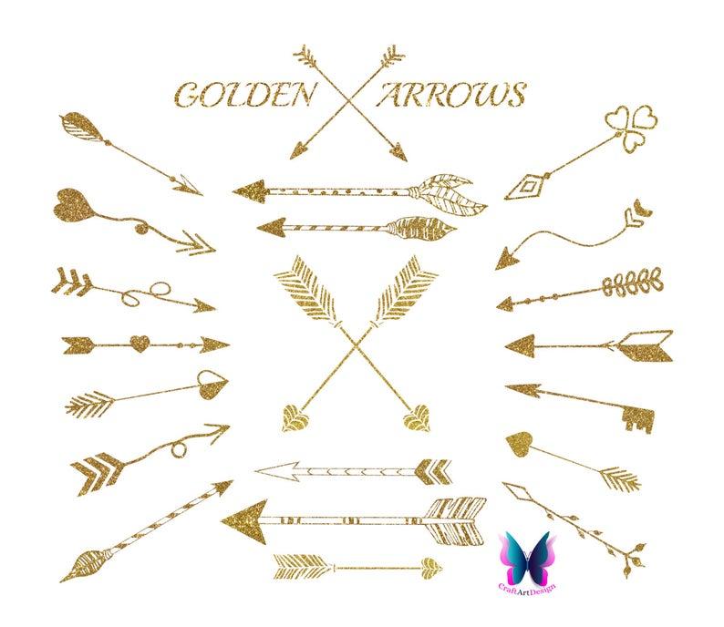 Gold Tribal Arrows.