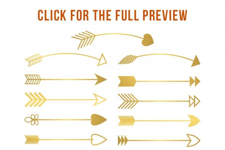 Gold arrow clipart 3 » Clipart Station.