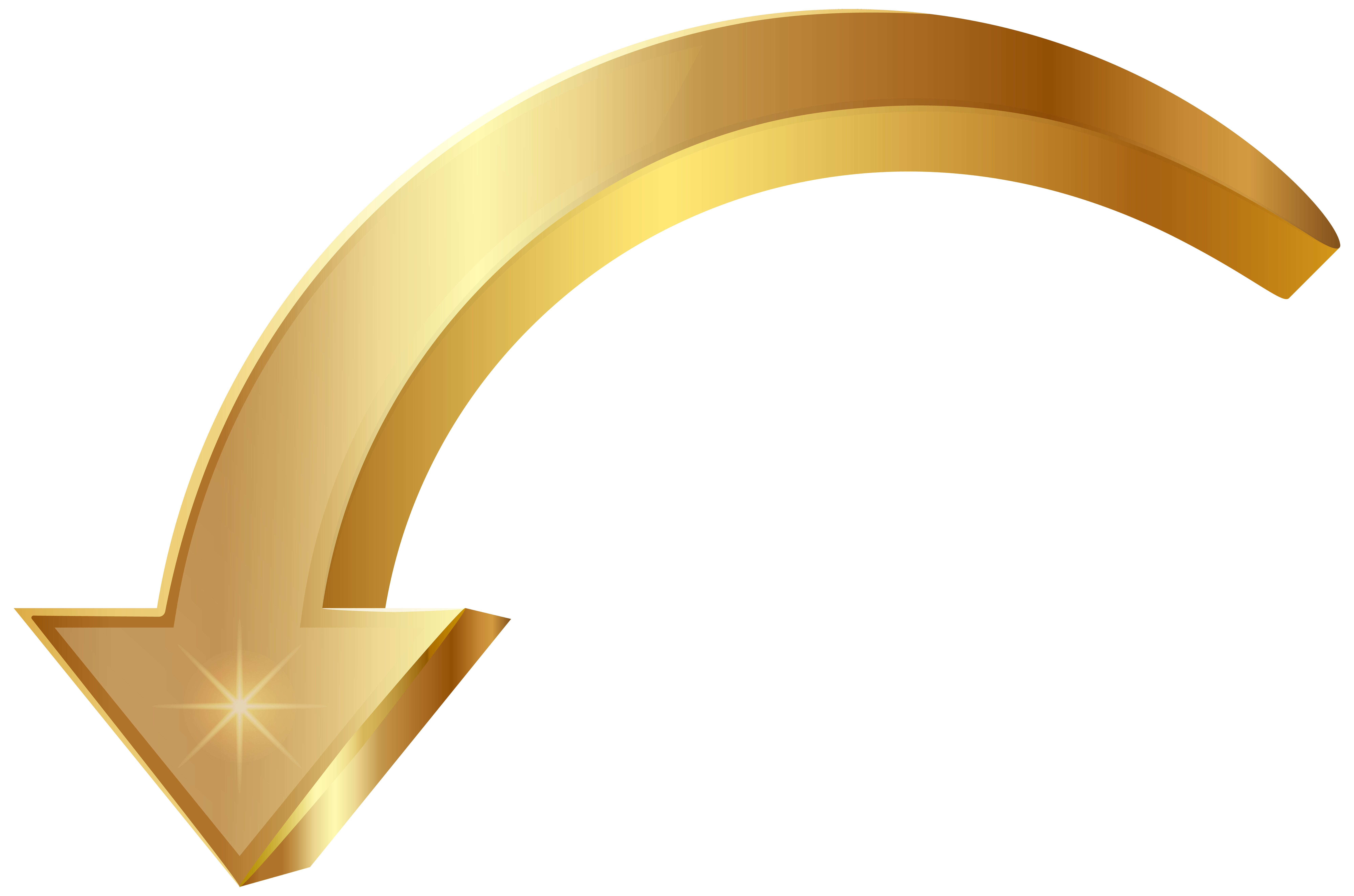 Arrow Gold PNG Clip Art Image.