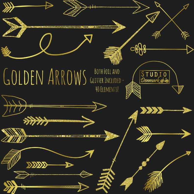 Gold Arrow Clipart.