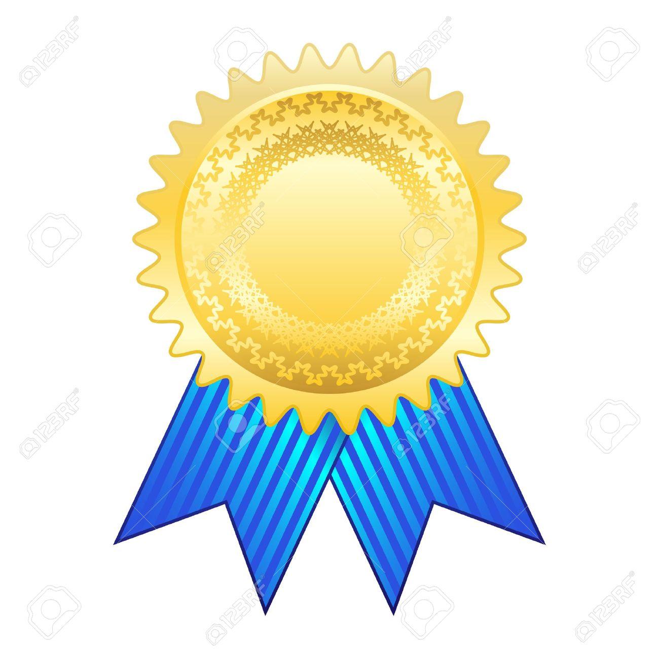 Gold award ribbon.