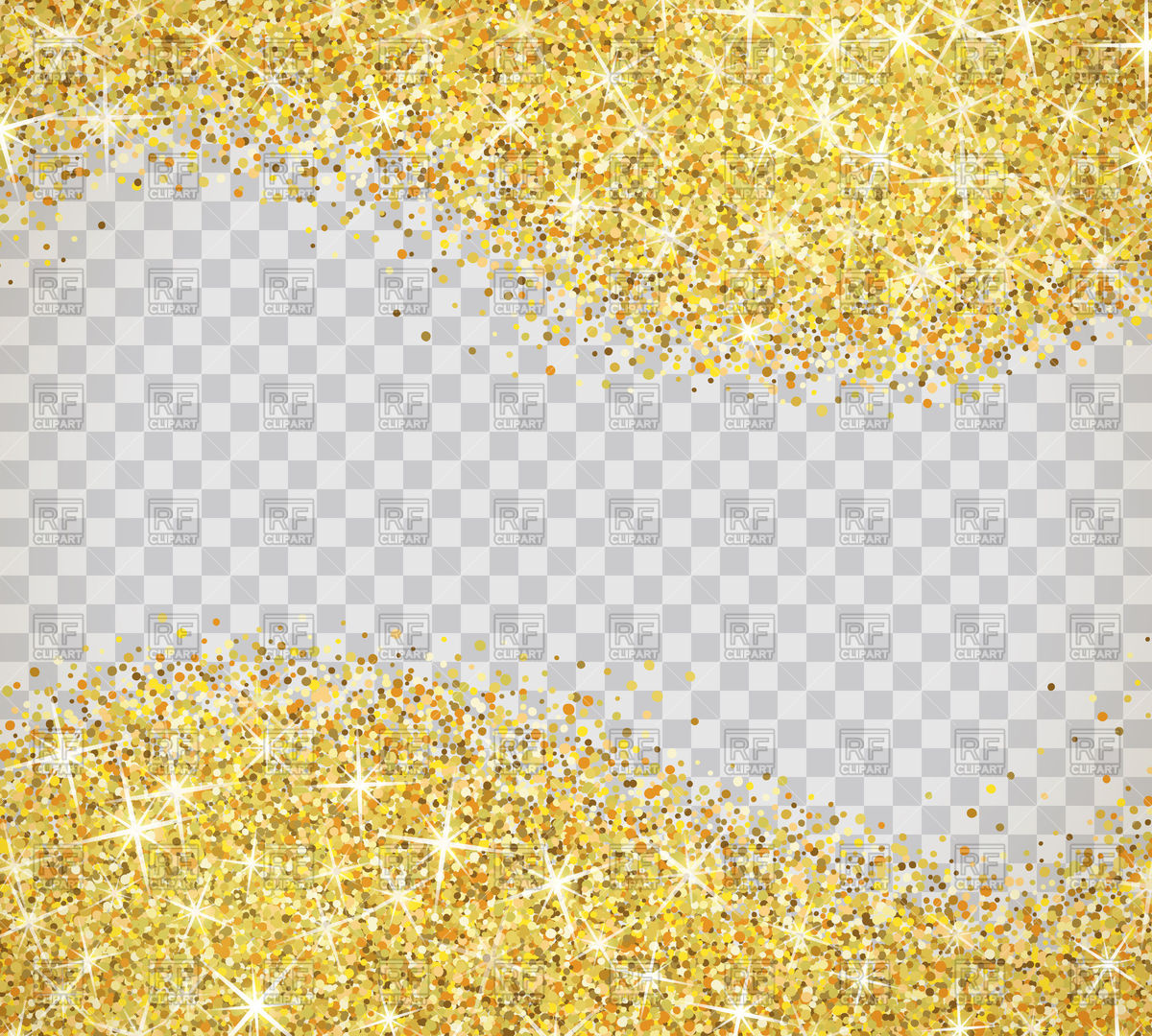 Gold glitter on transparent background Vector Image #112238.